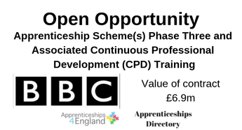 Apprenticeship Scheme(s) Phase Three and Associated Continuous Professional Development (CPD) Training