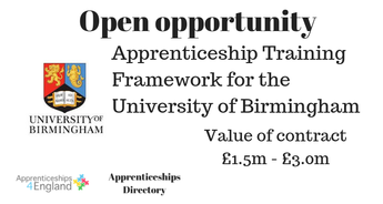 Apprenticeship Training Framework for the University of Birmingham