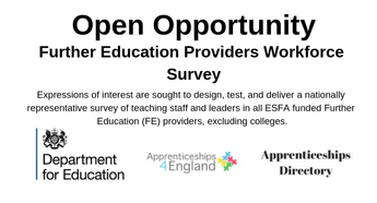 Further Education Providers Workforce Survey, DEPARTMENT FOR EDUCATION