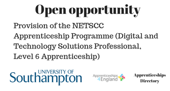 Provision of the NETSCC Apprenticeship Programme (Digital and Technology Solutions Professional, Level 6 Apprenticeship)