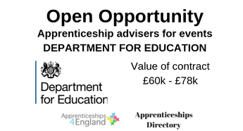 Apprenticeship advisers for events DEPARTMENT FOR EDUCATION