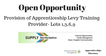 Provision of Apprenticeship Levy Training
