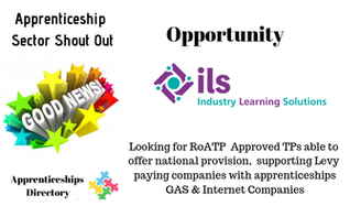 Opportunity for RoATP Approved Training Providers to work with Levy Paying Gas and Internet Employers