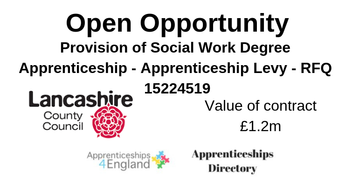 Provision of Social Work Degree Apprenticeship - Apprenticeship Levy