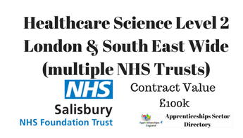 Healthcare Science Level 2 London & South East Wide (multiple NHS Trusts)
