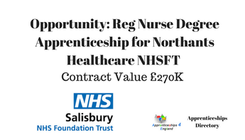 Reg Nurse Degree Apprenticeship for Northants Healthcare NHSFT: SALISBURY NHS FOUNDATION TRUST