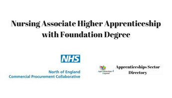 Nursing Associate Higher Apprenticeship with Foundation Degree