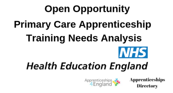 Primary Care Apprenticeship Training Needs Analysis