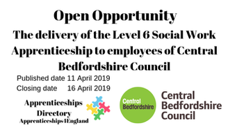 The delivery of the Level 6 Social Work Apprenticeship to employees of Central Bedfordshire Council