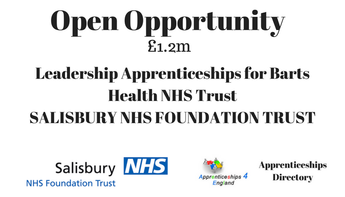 Leadership Apprenticeships for Barts Health NHS Trust Contract Value £1.2m