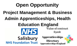 Project Management & Business Admin Apprenticeships, Health Education England