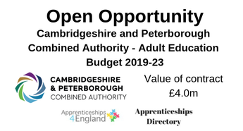 Cambridgeshire and Peterborough Combined Authority - Adult Education Budget 2019-23