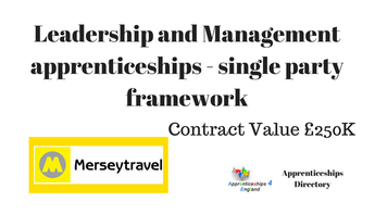 Leadership and Management apprenticeships - single party framework