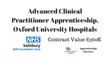 Advanced Clinical Practitioner Apprenticeship, Oxford University Hospitals
