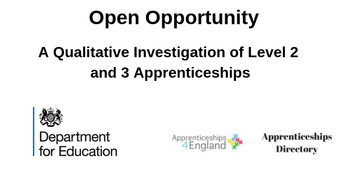 A Qualitative Investigation of Level 2 and 3 Apprenticeships