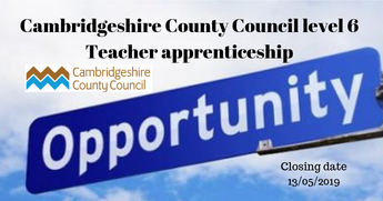 Cambridgeshire County Council level 6 Teacher apprenticeship