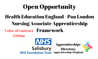 Health Education England - Pan London Nursing Associate Apprenticeship Framework: Contract Value £100m