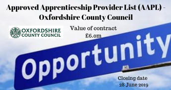 Approved Apprenticeship Provider List (AAPL) - Oxfordshire County Council