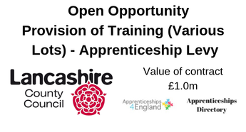 Provision of Training (Various Lots) - Apprenticeship Levy