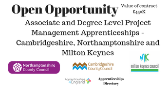 Associate and Degree Level Project Management Apprenticeships - Cambridgeshire, Northamptonshire and Milton Keynes