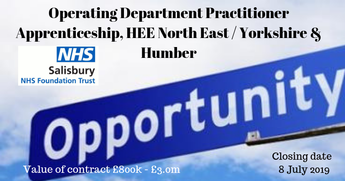 Operating Department Practitioner Apprenticeship, HEE North East / Yorkshire & Humber