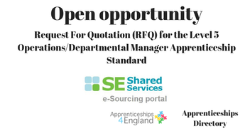 Request For Quotation (RFQ) for the Level 5 Operations/Departmental Manager Apprenticeship Standard