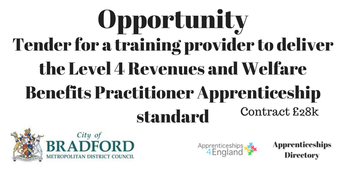 Tender for a training provider to deliver the Level 4 Revenues and Welfare Benefits Practitioner Apprenticeship standard