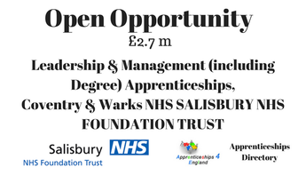 Leadership & Management (including Degree) Apprenticeships, Coventry & Warks NHS Opportunity £2.7m