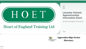 Leicester Schools Apprenticeship Information Event by Heart of England Training Ltd