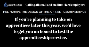 HELP SHAPE THE DESIGN OF THE APPRENTICESHIP SERVICE