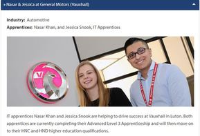 Nasar & Jessica at General Motors (Vauxhall)