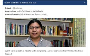 Meet Our Apprentices: Judith and Nathia at Bedford NHS Trust