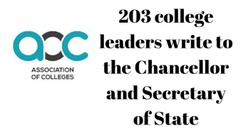 203 college leaders write to the Chancellor and Secretary of State