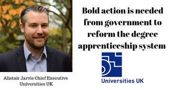 Bold action is needed from government to reform the degree apprenticeship system so many more people can become degree apprentices, according to a major report published today