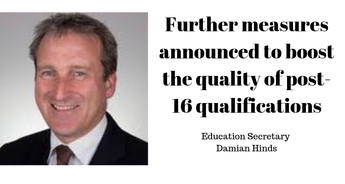 Further measures announced to boost the quality of post-16 qualifications