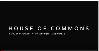 Angela Middleton Giving Evidence: The Parliamentary Committee - Exceeding Apprenticeships