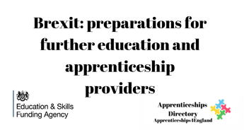 Brexit: preparations for further education and apprenticeship providers