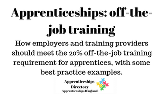 Apprenticeships: off-the-job training 13th Sept