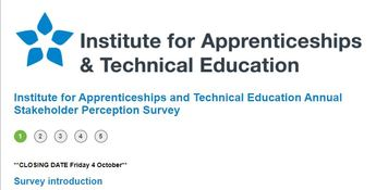 Institute for Apprenticeships and Technical Education Annual Stakeholder Perception Survey
