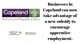 Apprentice subsidy on offer for Copeland businesses