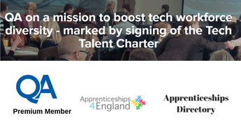 QA on a mission to boost tech workforce diversity - marked by signing of the Tech Talent Charter (Apprenticeships Directory