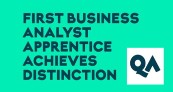 FIRST BUSINESS ANALYST APPRENTICE ACHIEVES DISTINCTION