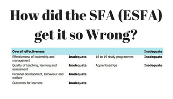How did the SFA (ESFA) get it so wrong and are organisations ready for SEPT