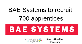 BAE Systems to recruit 700 apprentices