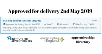 BUILDING CONTROL SURVEYOR (DEGREE) Level 6. Approved for delivery (Apprenticeships Directory)