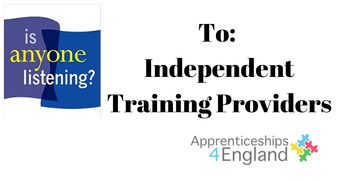 Is anyone listening to Independent Training Providers