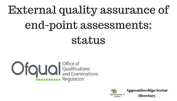 External quality assurance of end-point assessments: status