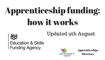 Update: 9th August: Apprenticeship funding: how it works: Guidance