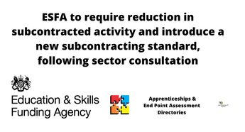 ESFA to reduce  to FE subcontracting by 2022/23