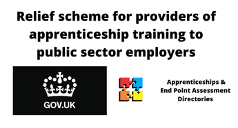Relief scheme for providers of apprenticeship training to public sector employers